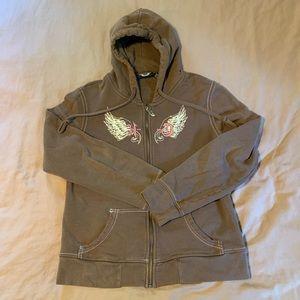 Harley Davidson zip up hoodie.